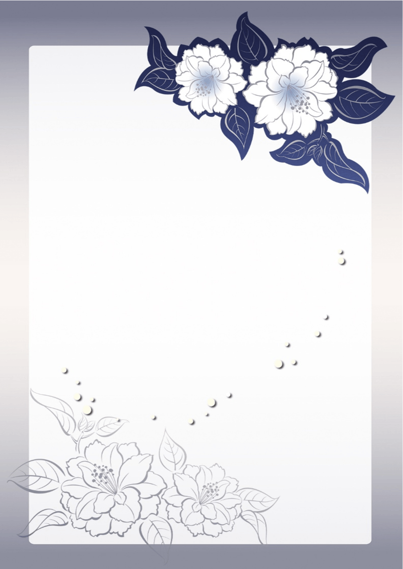 (General Letter) Flower Cards in Minimalist Style.docx