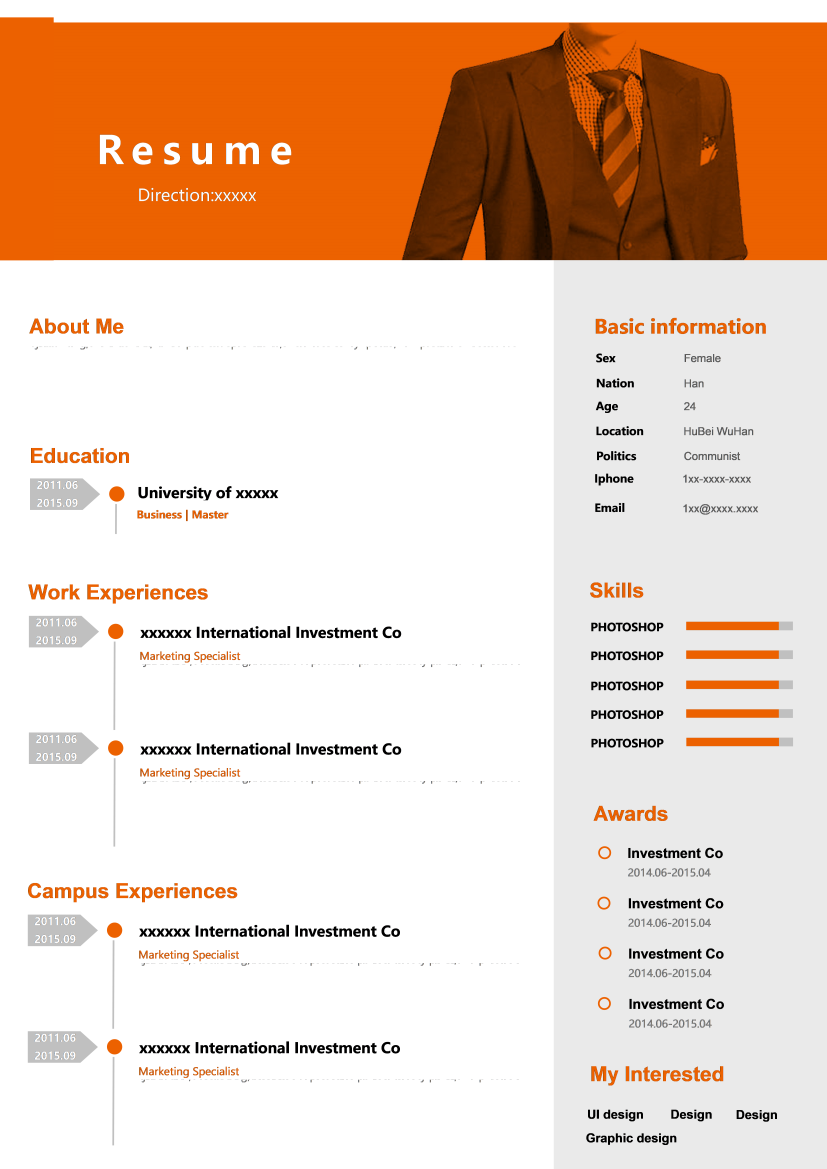 (Basic Resume) Creative Resume with One-Page 11.doc