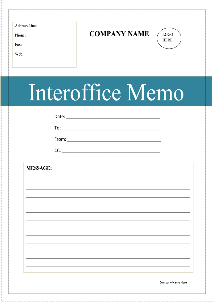interoffice-memo-template docx - writer templates