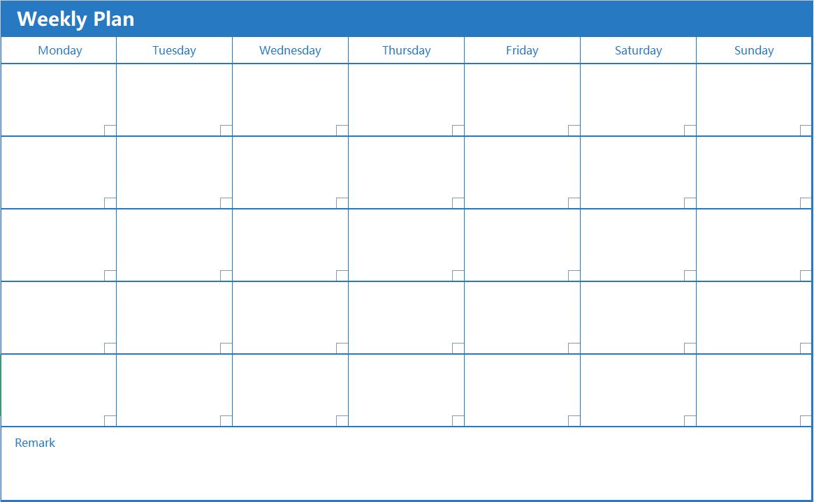 Weekly Plan Table.xlsx