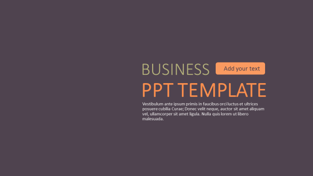 Fashion semi solid business general ppt template ppt